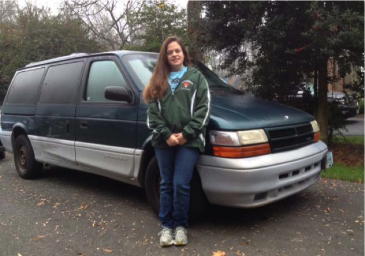 Do you dare take a ride in Hannah Forcier's mysterious Dodge Caravan? (Photo courtesy of Hannah Forcier)