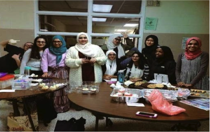 Members+of+the+MSA+had+a+bake+sale+after+school+on+December+2%2C+near+the+main+school+entrance.%0A%28Photo+courtesy+of+Muslim+Student+Association%29