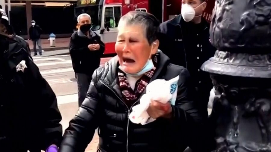 76-year-old Xiao Zhen Xie fought off an attacker who struck her on the street.